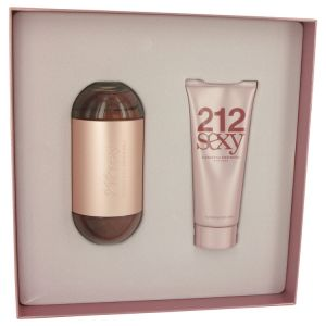 Carolina Herrera -  212 Women  Gift set -  EDT 100 ml+ Body Lotion 100 ml. Подаръчен комплетт за жени.