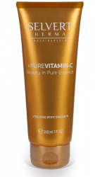 Selvert Thermal - +PURE VITAMIN C - Vitalizing Body Emulsion  Хидратираща емулсия за тяло:. 200 ml