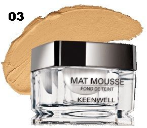 Keenwell - Фон дьо тен + пудра - MATT MOUSSE - POWDERY MATTIFYING.