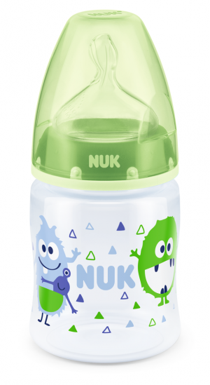 NUK -  First Choice РР шише 150мл силикон микс 0-6м. размер М