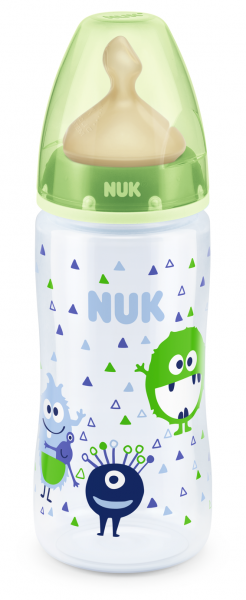 NUK - First Choice РР шише 300 мл. каучук микс, 0-6 мес., р-р М