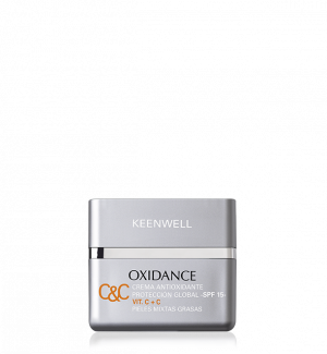 Keenwell - OXIDANCE - ANTIOXIDANT MULTIDEFENSE CREAM -VIT. C+C SPF 15 - OILY - COMBINATION SKIN - Анти-оксидантен крем за мазна кожа. 50 ml
