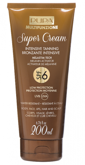Pupa -  Sun- SUPER CREAM INTENSIVE TANNING SPF 6 / 30   - Слънцезащиен крем  SPF 6 / 30 . 200 ml