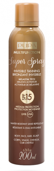 Pupa -  Sun - SUPER SPRAY INVISIBLE TANNING   SPF6  / 15 / 30  - Слънцезащиен спрей  SPF 6 /  15 / 30 . 200 ml