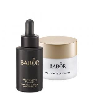 Babor - SKINOVAGE CLASSICS - Skin Protect Cream and Rejuvenating Face Oil Duo Set - Дуо сет Защитен зимен крем с подмладяващо масло.