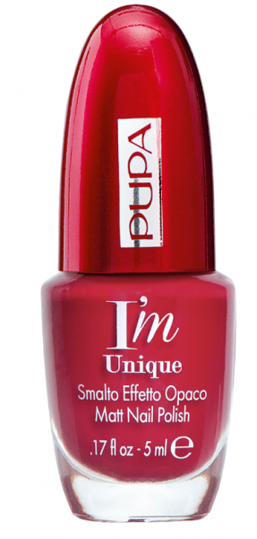 Pupa - RED POWER - I`M UNIQUE MATT NAIL POLISH - Лак за Нокти с Матов Финиш.