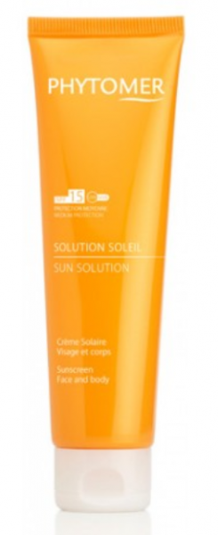 Phytomer -  SUN SOLUTION Sunscreen Face and Body  - Слънцезащитен крем  SPF 15 / SPF 30 . 125 ml.