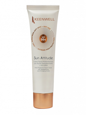 Keenwell - SUN ATTITUDE - Multi-protective facial cream with depigmenting and antiaging action spf50+ - Мултизащитен Депигментиращ крем против стареене SPF 50+. 60 ml.