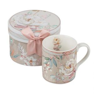 New Wish Studio Porcelain - Божур MUG сет кафе +кутия