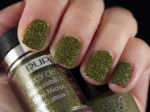 Pupa - Лак с кристали Dark Green - CRAZY CRYSTALS LASTING COLOR.