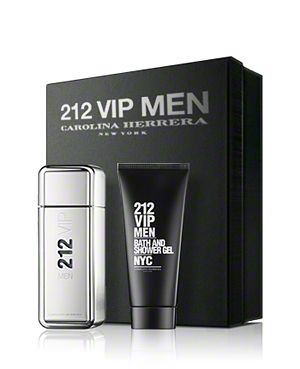 Carolina Herrera - 212 VIP men   Gift set  EDT 100 ml  & After shave lotion 100 ml. Подаръчен комплект за мъже.
