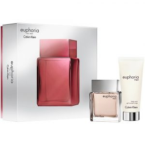 Calvin Klein -  Euphoria Men Gift Set  EDT 50ml  & Shower Gel 100 ml. Подаръчен комплект за мъже.